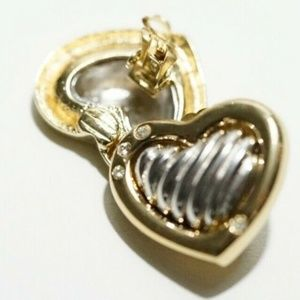 Joseph Esposito Ashley Classics - Heart Clip-On